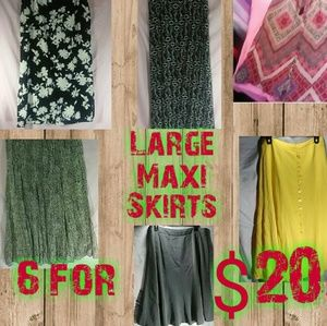 Dresses & Skirts - 6 Maxi Skirts for $20 L-XL